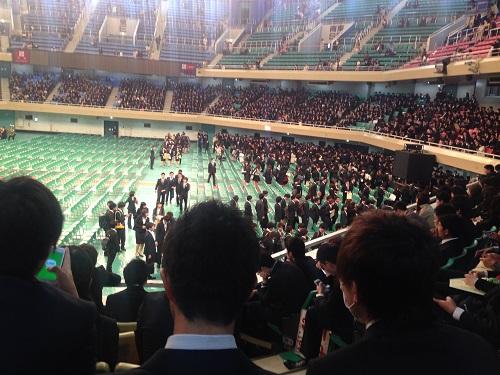 大学 入学式 様子1